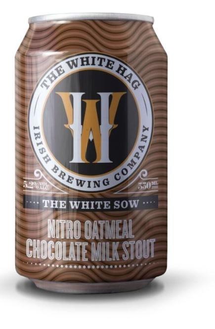 White Hag 'The White Sow' Nitro Oatmeal Chocolate Milk Stout Can 330ML