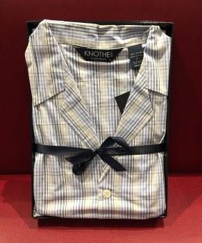 Lux Cotton Long Sleeve Long Leg LightWeight Large Check Boxed Pajama Set