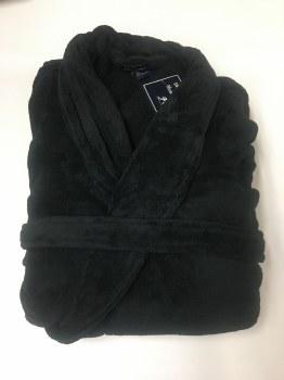 Summerfields Fleece Super Size Robe -7XB/8XB - Black - Navy