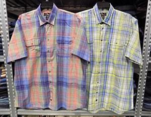 on Randall Coloures Checkered Short Sleeve Shirt
