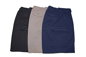 Big and Tall Elastic Cargo Short