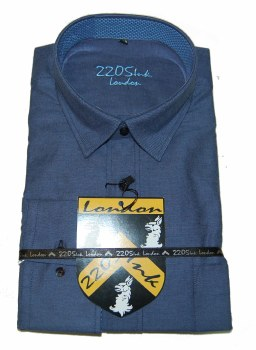 2205 Ink Solid Long Sleeve Sport Shirt