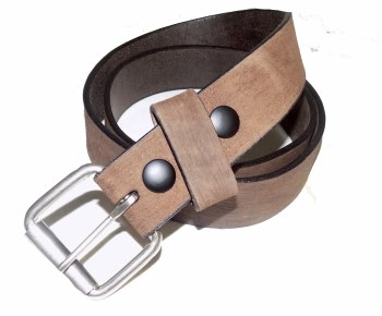 Boston Leather Full Grain Roller Buckle