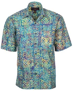 Pete Huntington Bali Cotton Lawn Short Sleeve Shirt