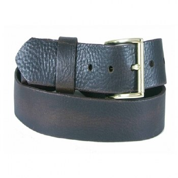 Boston Leather Gold Roller Buckle Belt