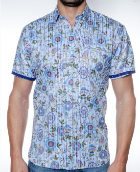 2205 Ink In Bloom Short Sleeve Sport Shirt