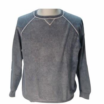 FX Fusion Contrast Stitch Sweater - CEMENT,SAGE,BLUE