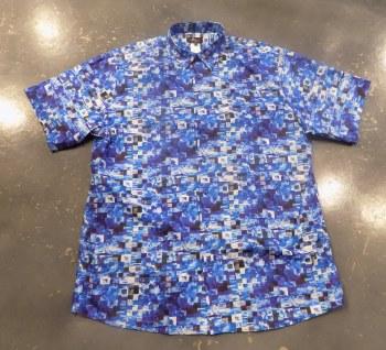 Jon Randall Blue Check Short Sleeve Shirt