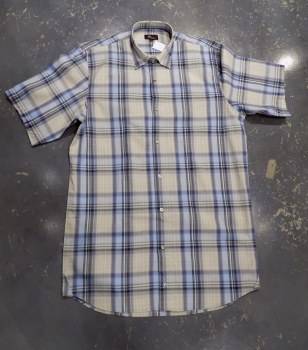 Jon Randall Horizon Dobby Plaid Short Sleeve Shirt