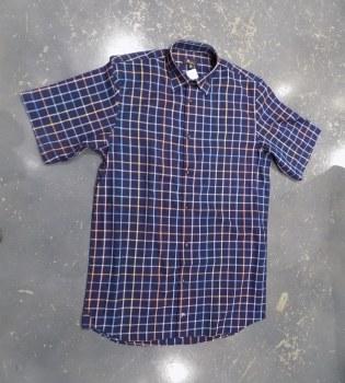 Jon Randall Navy Check Short Sleeve Shirt