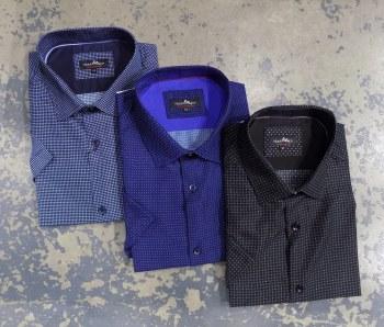 Black Ice Pin Dot Short Sleeve Shirt