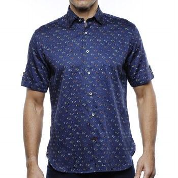 Luchiano Visconti Sungalsses Short Sleeve Shirt