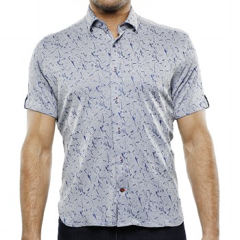 Luchiano Visconti Knit Short Sleeve Shirt
