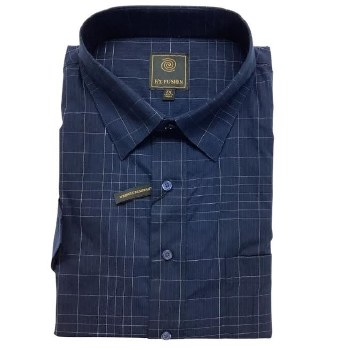 Navy Fine Line Short Sleeve Shirt