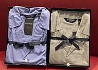 Lux Cotton Woven Long Sleeve Long Leg Light Weight Small Box Check Pajama Set