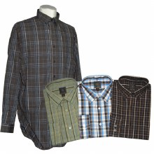 FX Fusion Long Sleeve Easy Care Plaid Sport Shirt