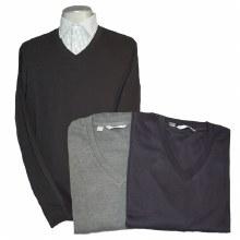 Cutter & Buck Journey Supima Flatback V-Neck Sweater