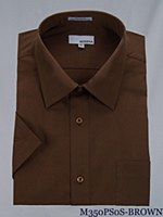 London's Big & Tall Short Sleeve Cotton Dress Shirt