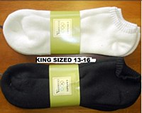 Vannucci No Show King Sized Sport Sock
