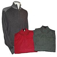 FX Fusion 1/4 Zip Mock Neck Sweater