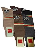 Vannucci Flat Knit Mercerized Cotton Sock