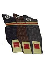 Vannucci Box Check Mercerized Cotton Sock