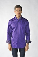2205 ink Solid Colour Long Sleeves Sport Shirt