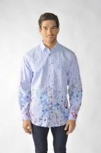 2205 Ink Paint Splash Long Sleeve Sport Shirt