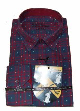 2205 Ink Red/Navy Plaid Long Sleeve