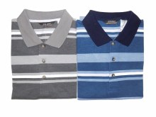 Big & Tall Large Striped Short Sleeve Polo