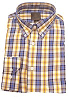 FX Fusion Yellow Plaid Long SLeeve