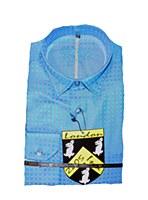 2205 Ink Interlocking Check Long Sleeve Sport Shirt