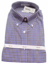 Cooper and Stewart Traditional Check No Iron Long Sleeve Sport Shirt