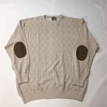 Summerfields Crew Neck Pullover Sweater. Tan, Olive