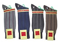 Vannucci King Size Vertical Stripe Socks