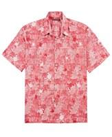 Tori Richard Tropical Red Short Sleeve Shirt