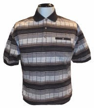Banded Bottom Shirt Co. Horizontal Block Polo