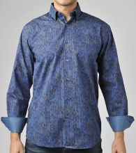 Luchiano Visconti Leaf Edge Long Sleeve Sport Shirt