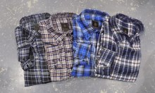 FX Fusion Flannel Plaid Long Sleeve Shirt