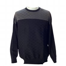 FX Fusion Colourblock Crew Neck Sweater.Navy,Black