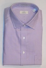 Cooper & Stewart Houndstooth Long Sleeve Sport Shirt