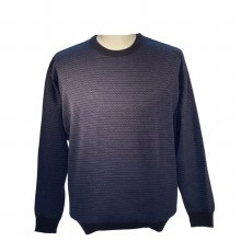 2205 Ink Navy Geometric Men's Big and Tall Sweater