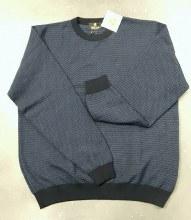2205 Ink Navy Geometric Sweater