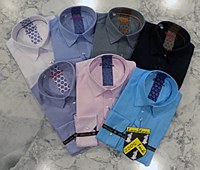 2205 Ink Diamond Long Sleeves Casual Shirt