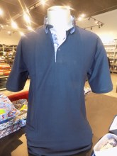 2205 Ink Vertical Textured Short Sleeve Polo