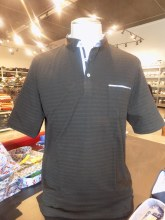2205 Ink Solid Textured Short Sleeve Polo