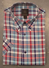 FX Fusion Oxford Check Short Sleeve Sport Shirt