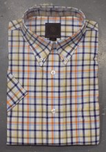 FX Fusion Oxford Plaid Short Sleeve Sport Shirt