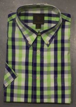 FX Fusion Large Check Short Sleeve Sport Shirt