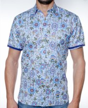 2205 Ink In Bloom Short Sleeve Sport Shirt